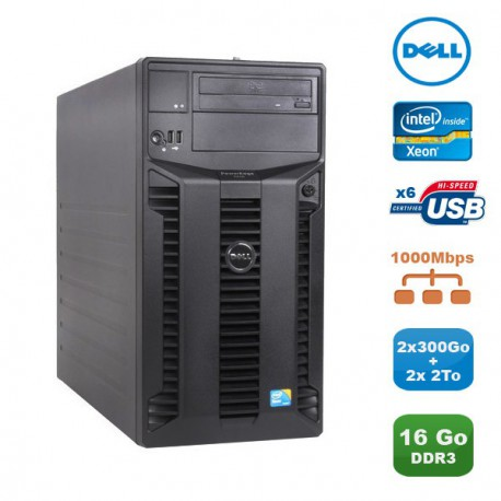 Serveur DELL PowerEdge T310 Xeon Quad Core X3440 2.53Ghz 16Go 2x 300Go + 2x 2To