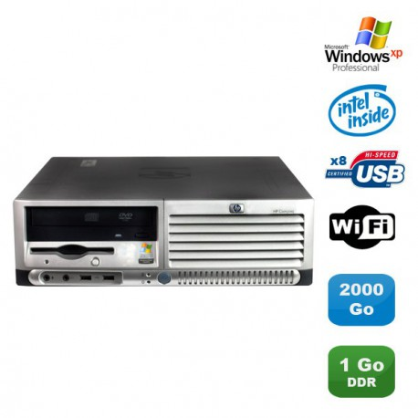 PC HP Compaq DC7100 SFF Pentium 4 HT 521 2.8Ghz 1Go DDR 2To SATA Xp Pro WIFI