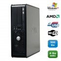 PC DELL Optiplex 740 SFF AMD Athlon 64 2.7GHz 4Go DDR2 500Go WIFI DVD Win XP Pro