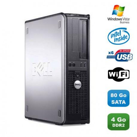 PC DELL Optiplex 360 DT Intel Dual Core 2GHz 4Go DDR2 WIFI 80Go Vista