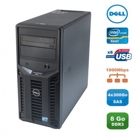 Serveur DELL PowerEdge T110 II Xeon Quad Core E3-1220 3.1Ghz 8Go 4x300Go SAS