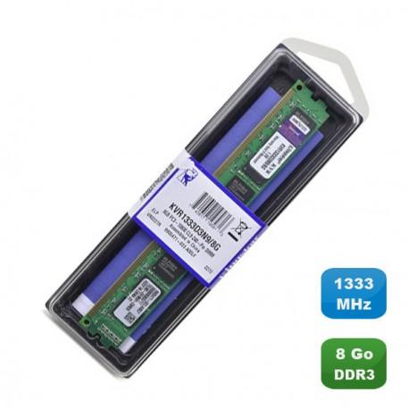 Ram Mémoire KINGSTON 8Go DDR3 PC3-10600U 1333Mhz KVR1333D3N9/8G 2Rx8 Low Profile