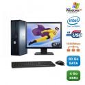 "Lot PC DELL Optiplex 760 DT Dual Core E5200 2,5Ghz 4Go 80Go XP Pro + Ecran 17"""
