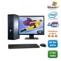 "Lot PC DELL Optiplex 760 DT Dual Core E5200 2,5Ghz 4Go 80Go XP Pro + Ecran 19"""