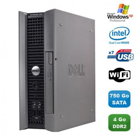Ultra Mini Pc DELL Optiplex 745 Usff Pentium D 2,8Ghz 4Go DDR2 750Go WIFI XP Pro