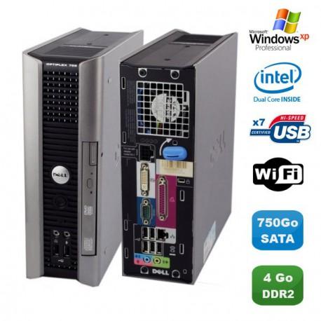 Ultra Mini Pc DELL Optiplex 755 Usff Dual core E2160 4Go DDR2 750Go WIFI XP Pro