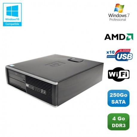 PC HP Compaq 6005 Pro SFF AMD Phenom II X2 3GHz 4Go 250Go WIFI Graveur W7 Pro