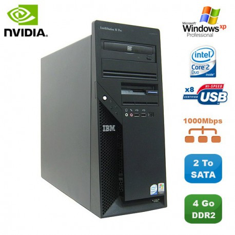 PC IBM IntelliStation M Pro 9229 Core 2 Duo E6600 4Go DVD NVidia Fx1500 2To XP