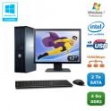 """Lot PC DELL Optiplex 760 DT Dual Core E5200 2,5Ghz 4Go 2To WIN 7 + Ecran 17"""""""