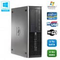 PC HP Compaq Elite 8100 SFF Intel Core i5 650 3.2GHz 4Go 2To Graveur WIFI W7