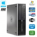 PC HP Compaq Elite 8100 SFF Intel Core i5 3.2GHz 4Go 240Go SSD Graveur WIFI W7