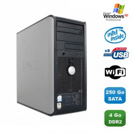 Pc Tour Dell Optiplex GX620 Pentium 4 2.8Ghz 4Go 250Go SATA WIFI Graveur XP Pro