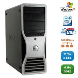 Workstation DELL Precision 390 Core2Duo E6300 4Go 2To Nvidia Quadro FX3500 XP