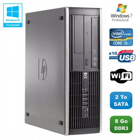 PC HP Compaq Elite 8100 SFF Intel Core i5 650 3.2GHz 8Go 2To Graveur WIFI W7