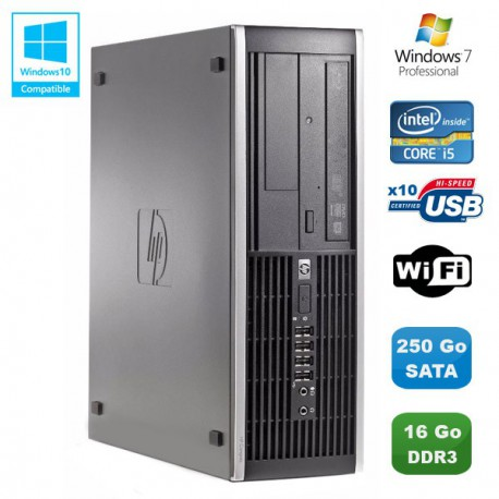 PC HP Compaq Elite 8100 SFF Intel Core i5 650 3.2GHz 16Go 250Go Graveur WIFI W7