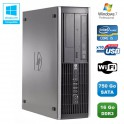 PC HP Compaq Elite 8100 SFF Intel Core i5 650 3.2GHz 16Go 750Go Graveur WIFI W7