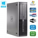 PC HP Compaq Elite 8100 SFF Intel Core i5 650 3.2GHz 16Go 2To Graveur WIFI W7