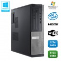 PC DELL Optiplex 3010 DT Intel G640 2.8Ghz 8Go 2To Graveur WIFI HDMI Win 7 Pro