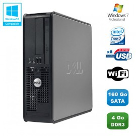 PC DELL Optiplex 780 Sff Core 2 Duo E7500 2,93Ghz 4Go DDR3 160Go WIFI Win 7 Pro