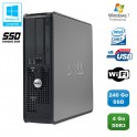 PC DELL Optiplex 780 Sff Core 2 Duo E7500 2,93Ghz 4Go 240Go SSD WIFI Win 7 Pro