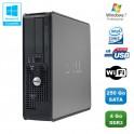 PC DELL Optiplex 780 Sff Core 2 Duo E7500 2,93Ghz 4Go DDR3 250Go WIFI Win 7 Pro