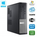 PC DELL Optiplex 3010 DT Intel G640 2.8Ghz 8Go 750Go Graveur WIFI HDMI Win 7 Pro