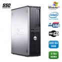 PC DELL Optiplex 760 DT Intel E5200 2,5Ghz 2Go DDR2 240Go SSD WIFI XP Pro