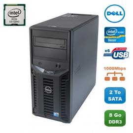 Serveur DELL PowerEdge T110II Xeon Quad Core E3-1220V2 3.1Ghz 8Go DDR3 2To SATA