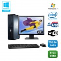 """Lot PC DELL Optiplex 760 DT Intel E5200 2,5Ghz 8Go DDR2 750 Go WIFI Win 7 + 22"""""""