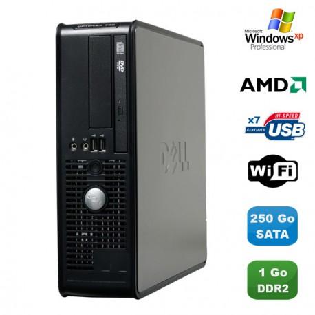 PC DELL Optiplex 740 SFF AMD Athlon 64 2.7GHz 1Go DDR2 250Go WIFI DVD Win XP Pro