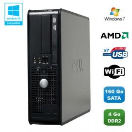 PC DELL Optiplex 740 SFF AMD Athlon 64 2.7GHz 4Go DDR2 160Go WIFI DVD Win 7