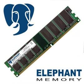 Barrette mémoire RAM 1Go DDR PC3200 DIMM 400Mhz 2Rx8 Non ECC Elephant Memory