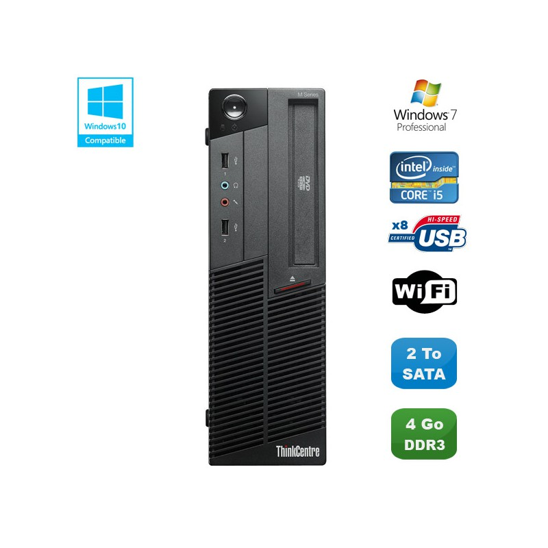 pc lenovo thinkcentre m90p 5864 core i5 650 3 2ghz 4go 2to. Black Bedroom Furniture Sets. Home Design Ideas