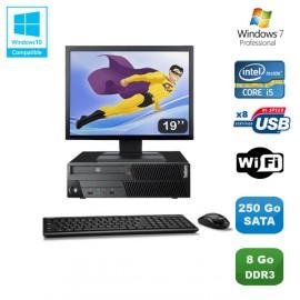 "PC Lenovo M90P 5864 Core i5-650 3.2GHz 8Go 250Go Graveur WIFI W7 + Ecran 19"""