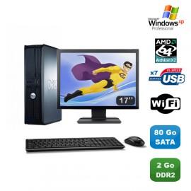 "Lot PC DELL Optiplex 740 DT Athlon 64X2 2,3GHz 2Go DDR2 80 Go WIFI XP Pro + 17"""