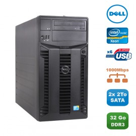 Serveur DELL PowerEdge T310 Server Xeon Quad Core X3440 2.53Ghz 32Go 2x 2To SATA