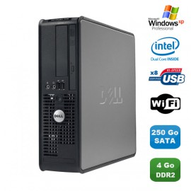 PC DELL Optiplex 760 SFF Pentium Dual Core E2160 1.8Ghz 4Go 250Go WIFI XP Pro