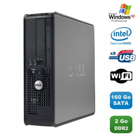 PC DELL Optiplex 760 SFF Pentium Dual Core E5200 2.5Ghz 2Go 160Go WIFI XP Pro