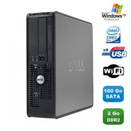 PC DELL Optiplex 760 SFF Intel Core 2 Duo E7400 2.8Ghz 2Go 160Go WIFI XP Pro