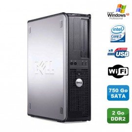 PC DELL Optiplex 330 DT Intel Core 2 Duo E4300 1.8GHz 2Go DDR2 WIFI 750Go XP Pro