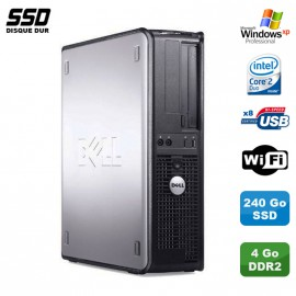 PC DELL Optiplex 330 DT Intel E4300 1.8GHz 4Go DDR2 WIFI 240Go SSD XP Pro