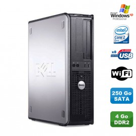 PC DELL Optiplex 330 DT Intel Core 2 Duo E4300 1.8GHz 4Go DDR2 WIFI 250Go XP Pro