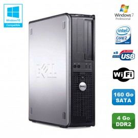 PC DELL Optiplex 330 DT Intel Core 2 Duo E4300 1.8GHz 4Go DDR2 WIFI 160Go W7 Pro