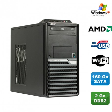 PC ACER Veriton M421G Tour Athlon X2 4850B 2.5Ghz 2Go DDR2 160Go WIFI Win Xp Pro