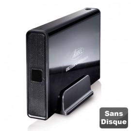 """Boîtier Externe Disque Dur 3.5"""" SATA USB 2.0 Advance BX-306BK Sans Vis Noir NEUF"""