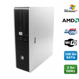 Pc HP Compaq DC5750 Sff AMD 2GHz 2Go DDR2 160Go Sata DVD WIFI Windows XP