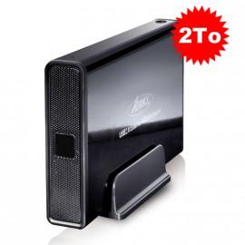 """Disque Dur Externe 2To SATA Boîtier 3.5"""" USB2 Advance BX-306BK Sans Vis Noir"""