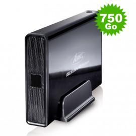 """Disque Dur Externe 750Go SATA Boîtier 3.5"""" USB2 Advance BX-306BK Sans Vis Noir"""
