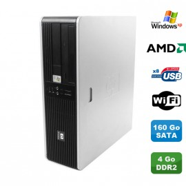 Pc HP Compaq DC5750 Sff AMD 2GHz 4Go DDR2 160Go Sata DVD WIFI Windows XP