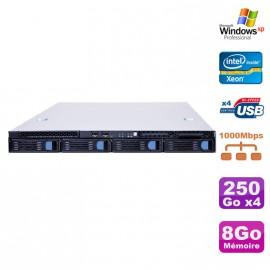 Serveur Rack Lame 1U Intel Bi-Xeon 2.33GHz 8Go DDR2 4x 250Go i5000VS SC5372-LC